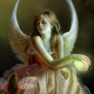 Spiritana Angel with light ball